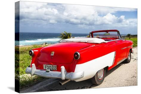 Cuba Fuerte Collection - Classic Red Car Cabriolet-Philippe Hugonnard-Stretched Canvas Print