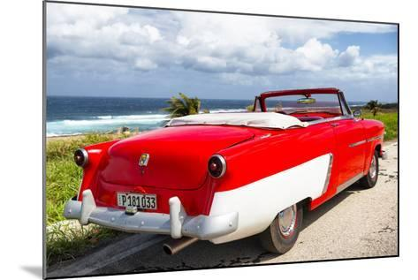 Cuba Fuerte Collection - Classic Red Car Cabriolet-Philippe Hugonnard-Mounted Photographic Print