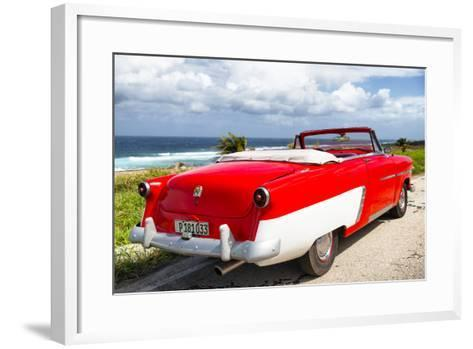 Cuba Fuerte Collection - Classic Red Car Cabriolet-Philippe Hugonnard-Framed Art Print