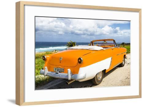 Cuba Fuerte Collection - Classic Orange Car Cabriolet-Philippe Hugonnard-Framed Art Print