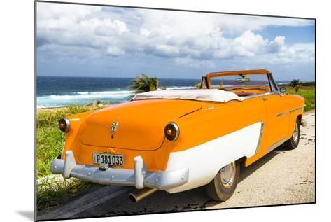 Cuba Fuerte Collection - Classic Orange Car Cabriolet-Philippe Hugonnard-Mounted Photographic Print