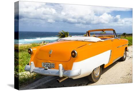 Cuba Fuerte Collection - Classic Orange Car Cabriolet-Philippe Hugonnard-Stretched Canvas Print
