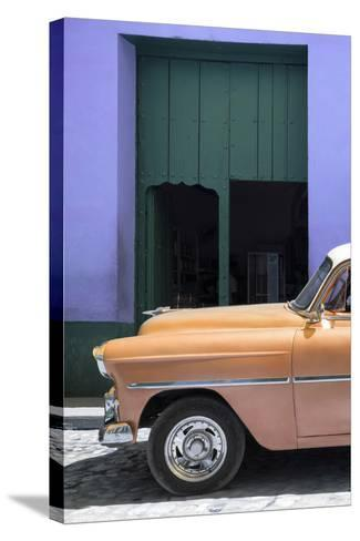 Cuba Fuerte Collection - Retro Orange Car II-Philippe Hugonnard-Stretched Canvas Print