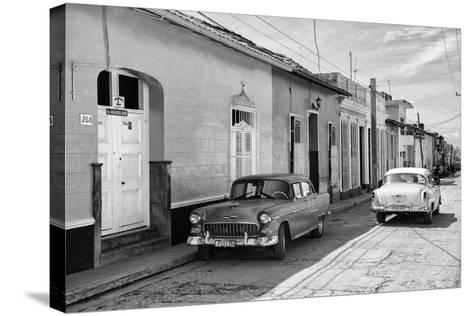 Cuba Fuerte Collection B&W - Sancti Spiritus Street Scene II-Philippe Hugonnard-Stretched Canvas Print