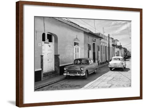 Cuba Fuerte Collection B&W - Sancti Spiritus Street Scene II-Philippe Hugonnard-Framed Art Print