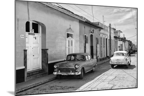 Cuba Fuerte Collection B&W - Sancti Spiritus Street Scene II-Philippe Hugonnard-Mounted Photographic Print