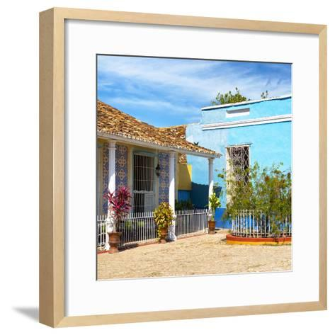Cuba Fuerte Collection SQ - Colorful Architecture Trinidad III-Philippe Hugonnard-Framed Art Print