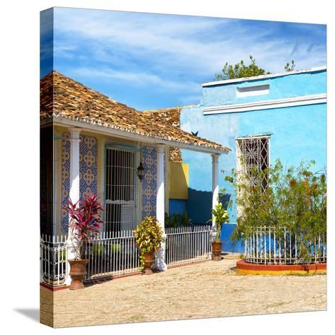 Cuba Fuerte Collection SQ - Colorful Architecture Trinidad III-Philippe Hugonnard-Stretched Canvas Print