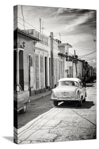 Cuba Fuerte Collection B&W - Sancti Spiritus Street Scene III-Philippe Hugonnard-Stretched Canvas Print