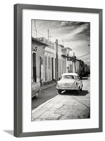 Cuba Fuerte Collection B&W - Sancti Spiritus Street Scene III-Philippe Hugonnard-Framed Art Print