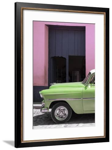 Cuba Fuerte Collection - Retro Lime Green Car II-Philippe Hugonnard-Framed Art Print