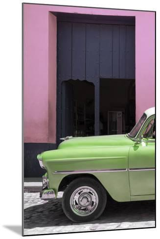 Cuba Fuerte Collection - Retro Lime Green Car II-Philippe Hugonnard-Mounted Photographic Print