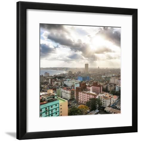 Cuba Fuerte Collection SQ - Rays of light on Havana-Philippe Hugonnard-Framed Art Print