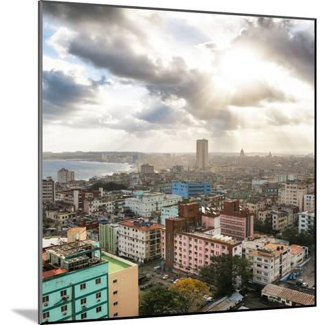Cuba Fuerte Collection SQ - Rays of light on Havana-Philippe Hugonnard-Mounted Photographic Print