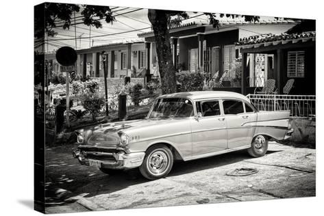 Cuba Fuerte Collection B&W - American Classic Car - Chevrolet-Philippe Hugonnard-Stretched Canvas Print