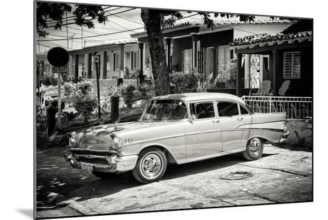 Cuba Fuerte Collection B&W - American Classic Car - Chevrolet-Philippe Hugonnard-Mounted Photographic Print