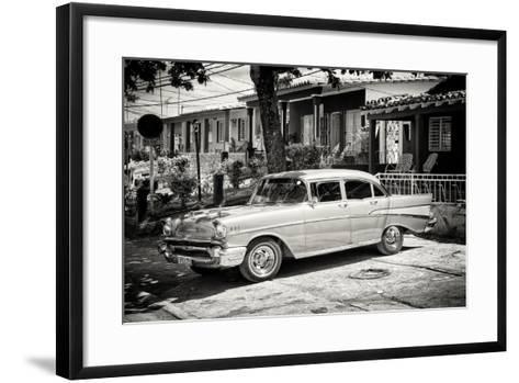 Cuba Fuerte Collection B&W - American Classic Car - Chevrolet-Philippe Hugonnard-Framed Art Print