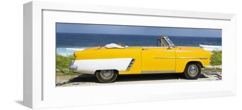 Cuba Fuerte Collection Panoramic - Yellow Cabriolet Car-Philippe Hugonnard-Framed Art Print