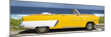 Cuba Fuerte Collection Panoramic - Yellow Cabriolet Car-Philippe Hugonnard-Mounted Photographic Print