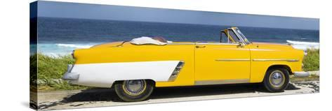 Cuba Fuerte Collection Panoramic - Yellow Cabriolet Car-Philippe Hugonnard-Stretched Canvas Print