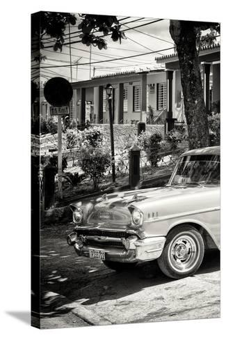 Cuba Fuerte Collection B&W - American Classic Car - Chevrolet III-Philippe Hugonnard-Stretched Canvas Print