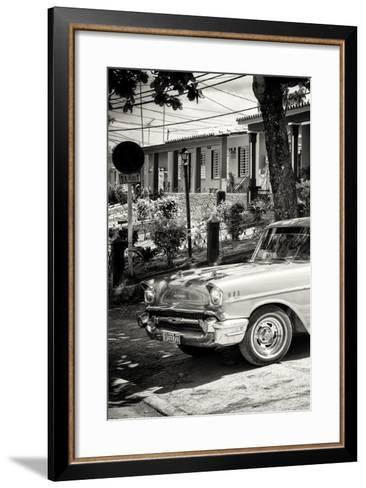Cuba Fuerte Collection B&W - American Classic Car - Chevrolet III-Philippe Hugonnard-Framed Art Print