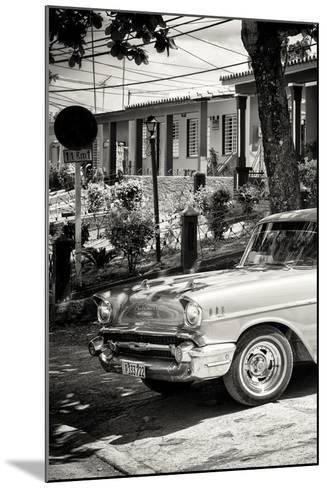 Cuba Fuerte Collection B&W - American Classic Car - Chevrolet III-Philippe Hugonnard-Mounted Photographic Print