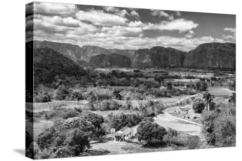 Cuba Fuerte Collection B&W - Vinales Valley III-Philippe Hugonnard-Stretched Canvas Print