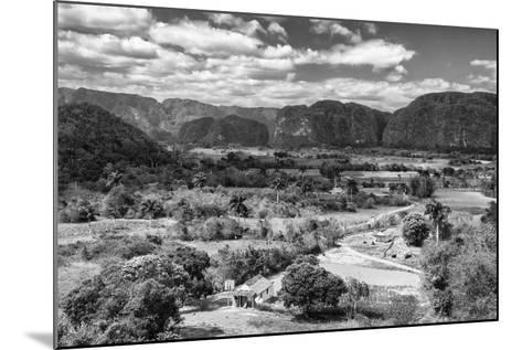 Cuba Fuerte Collection B&W - Vinales Valley III-Philippe Hugonnard-Mounted Photographic Print