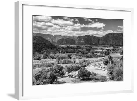 Cuba Fuerte Collection B&W - Vinales Valley III-Philippe Hugonnard-Framed Art Print
