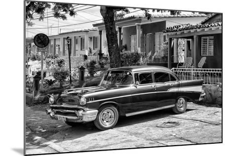 Cuba Fuerte Collection B&W - American Classic Car - Chevrolet II-Philippe Hugonnard-Mounted Photographic Print