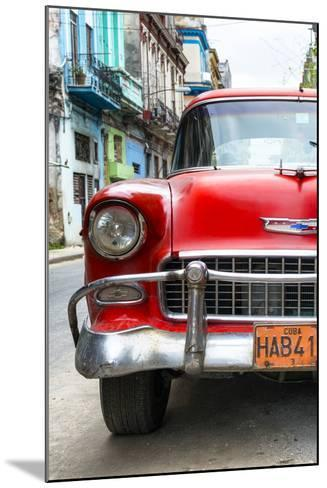 Cuba Fuerte Collection - Detail on Red Classic Chevy-Philippe Hugonnard-Mounted Photographic Print