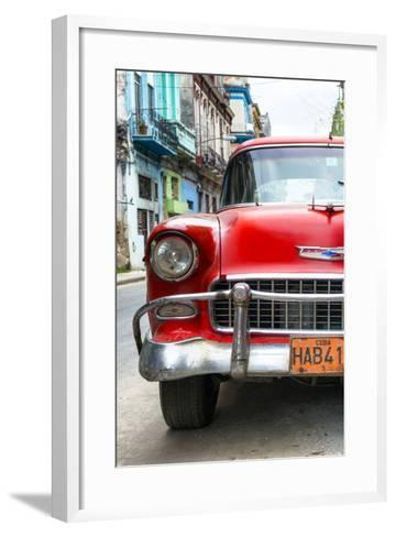 Cuba Fuerte Collection - Detail on Red Classic Chevy-Philippe Hugonnard-Framed Art Print