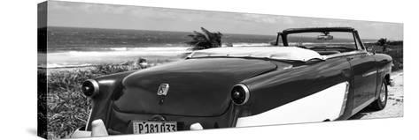 Cuba Fuerte Collection Panoramic BW - Cabriolet Classic Car II-Philippe Hugonnard-Stretched Canvas Print
