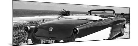 Cuba Fuerte Collection Panoramic BW - Cabriolet Classic Car II-Philippe Hugonnard-Mounted Photographic Print