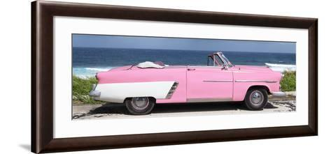 Cuba Fuerte Collection Panoramic - Pink Cabriolet Car-Philippe Hugonnard-Framed Art Print