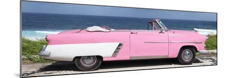 Cuba Fuerte Collection Panoramic - Pink Cabriolet Car-Philippe Hugonnard-Mounted Photographic Print