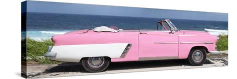 Cuba Fuerte Collection Panoramic - Pink Cabriolet Car-Philippe Hugonnard-Stretched Canvas Print