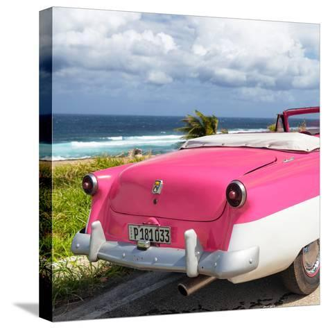 Cuba Fuerte Collection SQ - Classic Pink Car Cabriolet-Philippe Hugonnard-Stretched Canvas Print