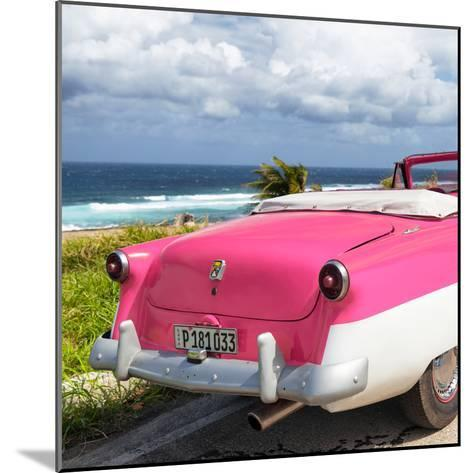 Cuba Fuerte Collection SQ - Classic Pink Car Cabriolet-Philippe Hugonnard-Mounted Photographic Print