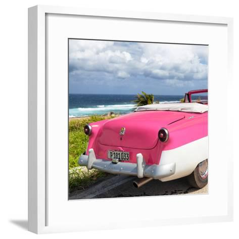 Cuba Fuerte Collection SQ - Classic Pink Car Cabriolet-Philippe Hugonnard-Framed Art Print