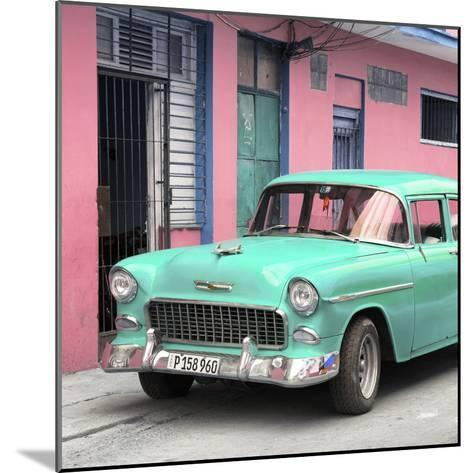 Cuba Fuerte Collection SQ - Classic American Turquoise Car in Havana-Philippe Hugonnard-Mounted Photographic Print
