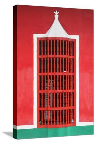 Cuba Fuerte Collection - Red Window-Philippe Hugonnard-Stretched Canvas Print