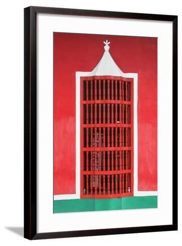Cuba Fuerte Collection - Red Window-Philippe Hugonnard-Framed Art Print