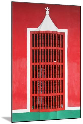 Cuba Fuerte Collection - Red Window-Philippe Hugonnard-Mounted Photographic Print