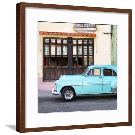 Cuba Fuerte Collection SQ - Havana Club and Blue Classic Car-Philippe Hugonnard-Framed Art Print