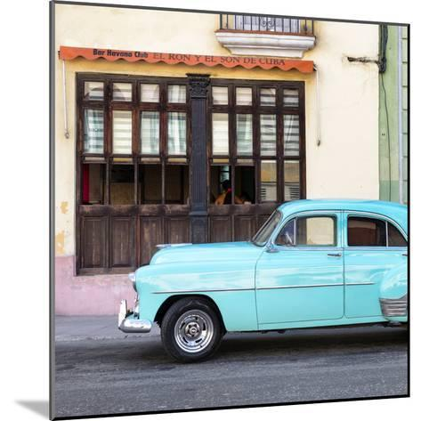 Cuba Fuerte Collection SQ - Havana Club and Blue Classic Car-Philippe Hugonnard-Mounted Photographic Print