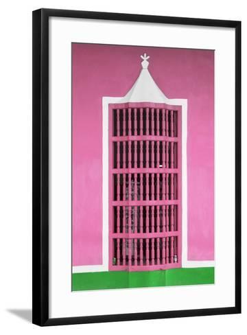 Cuba Fuerte Collection - Pink Window-Philippe Hugonnard-Framed Art Print