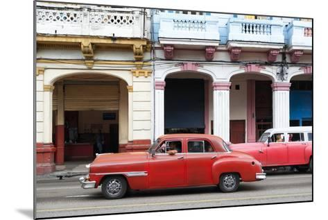 Cuba Fuerte Collection - Havana Red Car-Philippe Hugonnard-Mounted Photographic Print