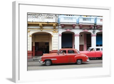 Cuba Fuerte Collection - Havana Red Car-Philippe Hugonnard-Framed Art Print